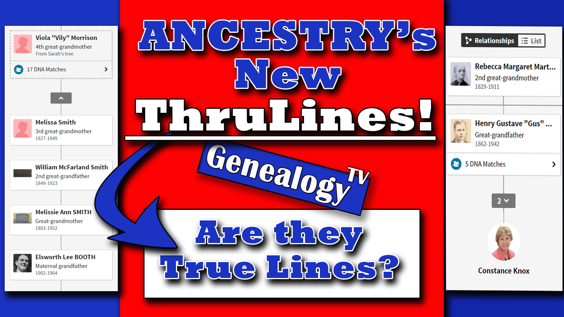 Ancestry's New Thrulines on GenealogyTV.org