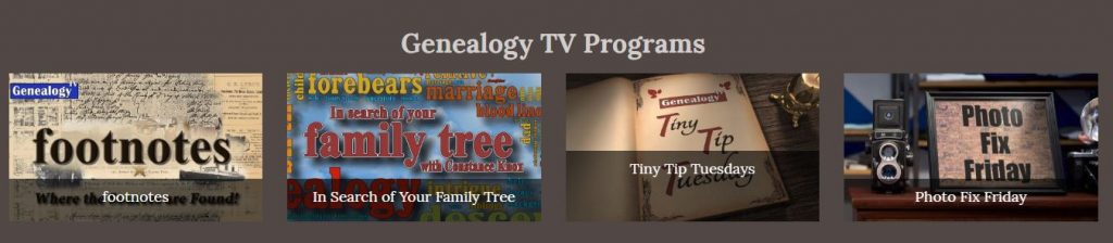Genealogy TV programs