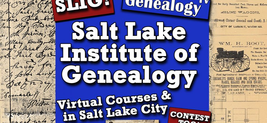 Salt Lake Institute of Genealogy SLIG