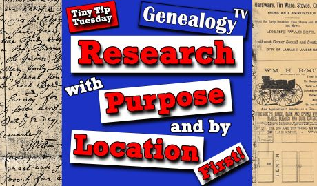 Research with Purpose and Location First