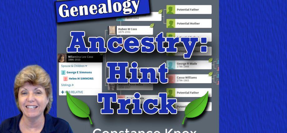 Ancestry.com: Hint Trick