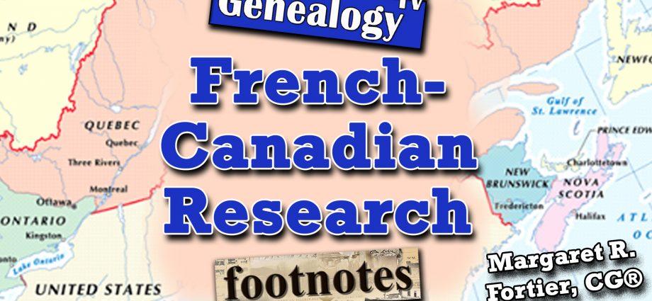 French-Canadian Genealogy