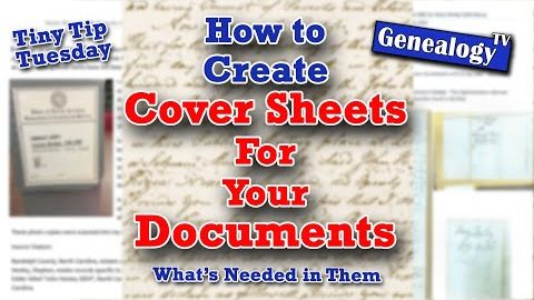 How to Create Cover Sheets for Your Documents and Whats Needed in Them
