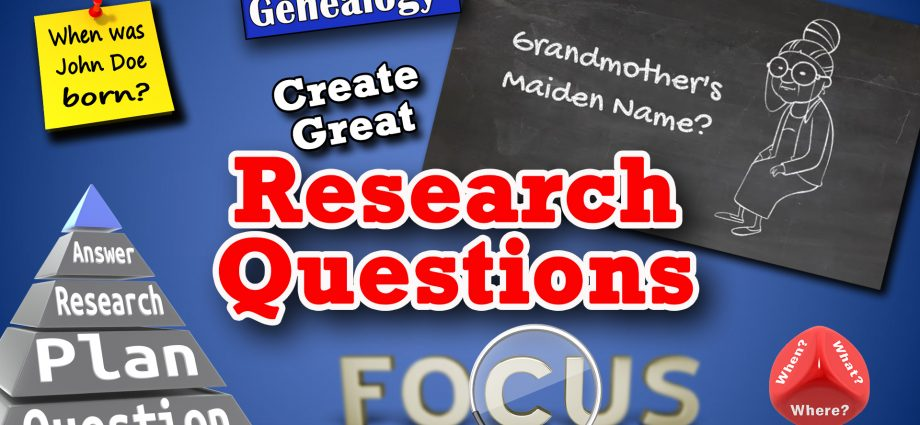 How to create and write genealogy research qustions