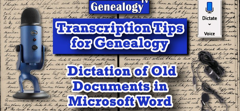 How to Transcribe Family History Documents into MS Word