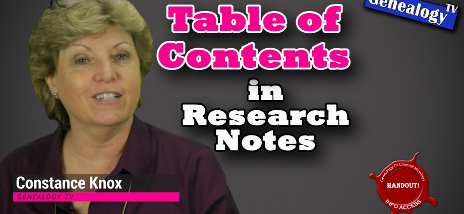 Add a Table of Contents to your Research Notes using MS Word