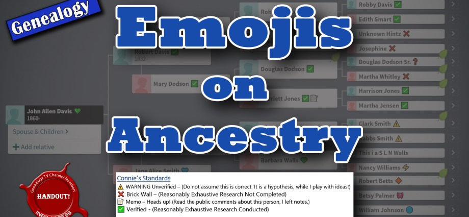 How to add an Emojis or Symbols to Your Family Tree on Ancestry or MyHeritage