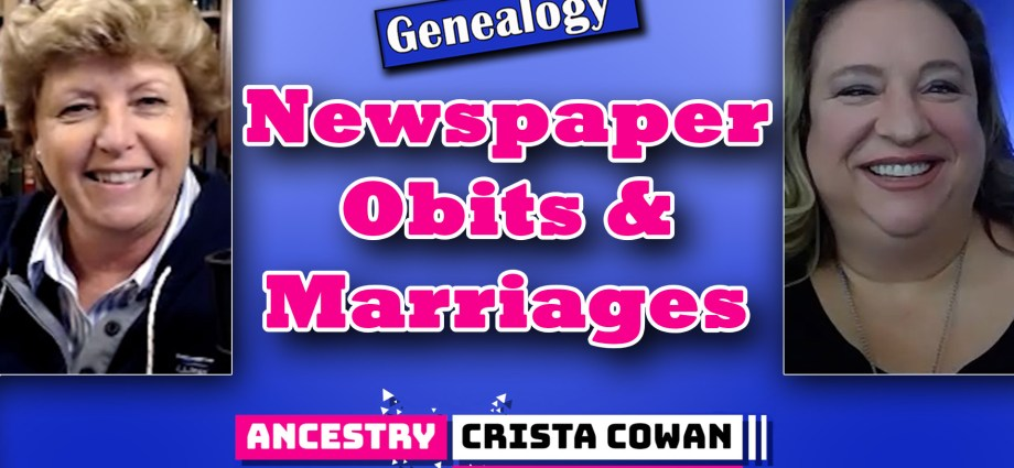 Obituaries & Marriages Indexed on Ancestry.com from Newspapers.com + Family Data Collection? One World Tree?