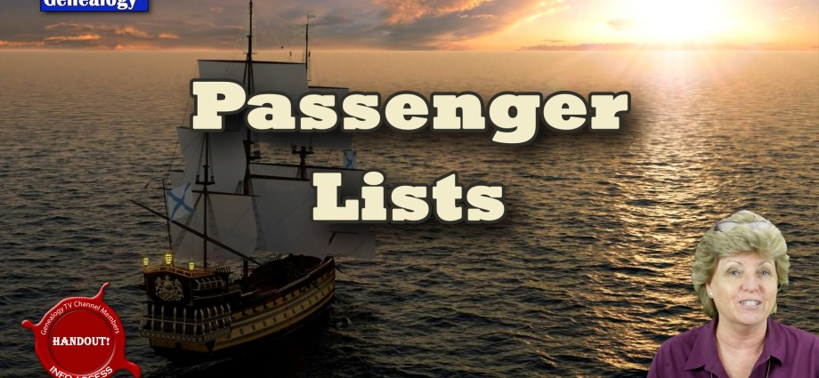How to Research Passenger Lists