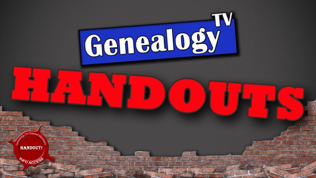 Genealogy TV HANDOUTS
