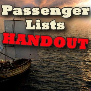 Passenger List Handout