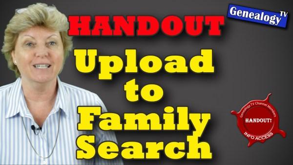 Genealogy TV Handout FamilySearch
