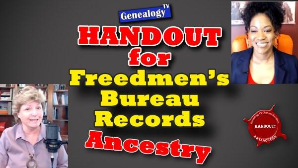 Handout for Freedmen's Burueau Records on Ancestry